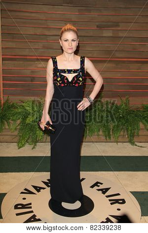 WEST HOLLYWOOD - MAR 2:: Anna Paquin at the 2014 Vanity Fair Oscar Party on March 2, 2014 in West Hollywood, California