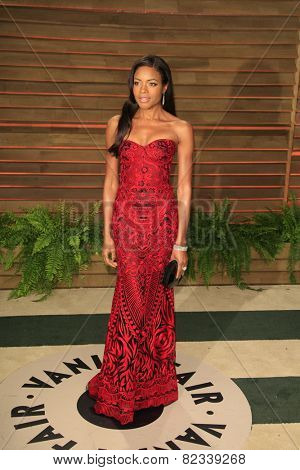 WEST HOLLYWOOD - MAR 2:: Naomie Harris at the 2014 Vanity Fair Oscar Party on March 2, 2014 in West Hollywood, California