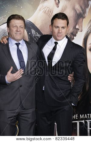 LOS ANGELES - FEB 2: Sean Bean, Channing Tatum at the 'Jupiter Ascending' Los Angeles Premiere at TCL Chinese Theater on February 2, 2015 in Hollywood, Los Angeles, California
