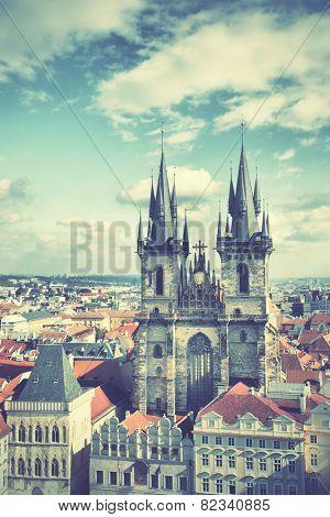 Old Prague. Instagram style filtred image