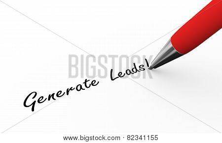 3D Pen Writing Generate Leads Illustration