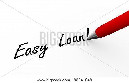 3D Pen Writing Easy Loan Illustration