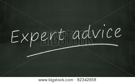 Chalkboard Expert Advice Illustration