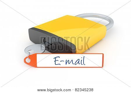 An image of a lock with a message e-mail