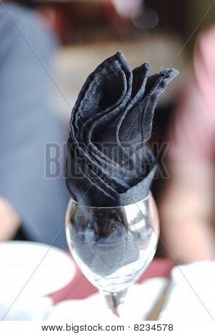 Wineglass with napkin