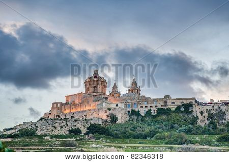 Saint Paul's Cathedral In Mdina, Malta