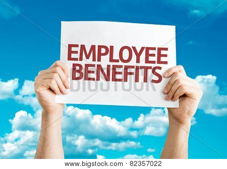 Employee Benefits card with sky background