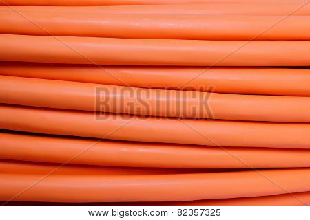 Orange Fiber Optic Cable Background
