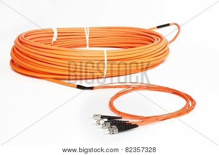 Orange Fiber Optic St Connector Patchcord