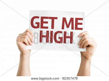 Get Me High card isolated on white background