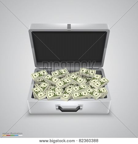 Outdoor metal briefcase dollar