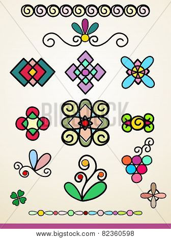 Doodle Decorations, Ornaments And Dividers