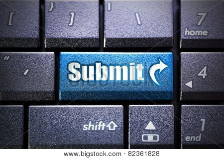 Submit button on the computer keyboard