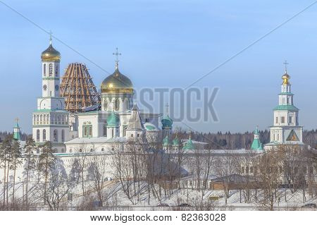 New Jerusalem Monastery In Winter