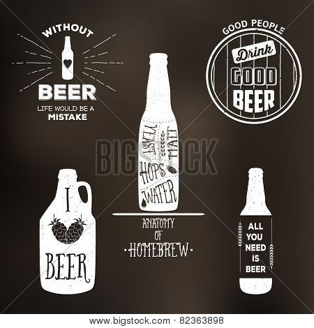 Vintage Beer Label T-shirt Graphic Set