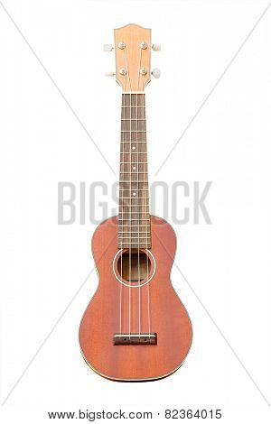 The image of a hawaiian guitar under the white background