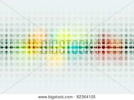 Bright colorful hi-tech circles background. Vector design
