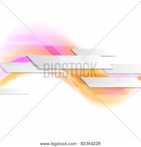 Hi-tech wavy motion background. Vector design