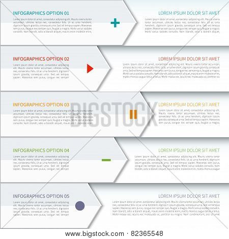 Modern arrow elements of infographic