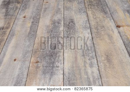 Old wooden floor boards with perspective