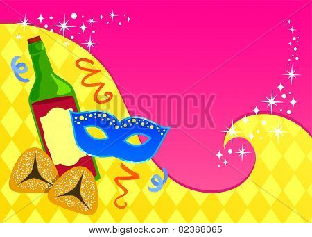 Purim card template