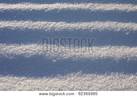 Abstract Striped Snow Surface