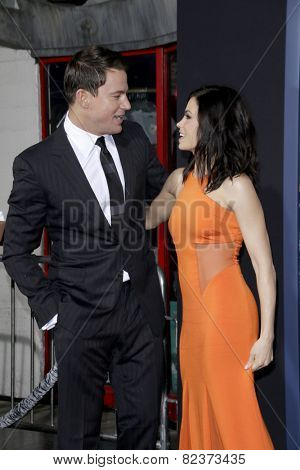 LOS ANGELES - FEB 2:  Channing Tatum, Jenna Dewan-Tatum at the
