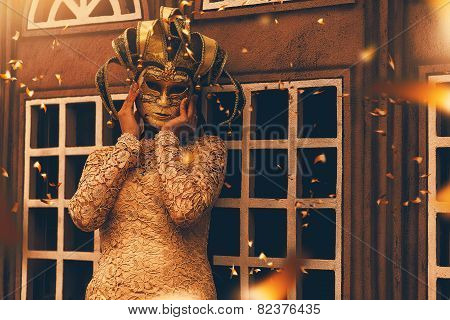 Mysterious Woman In Mask