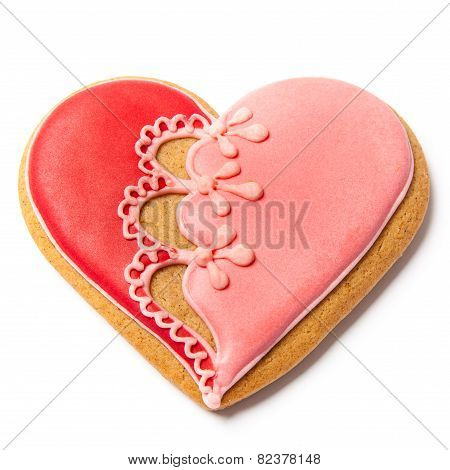 Saint Valentines Gingerbread - Stock Photo