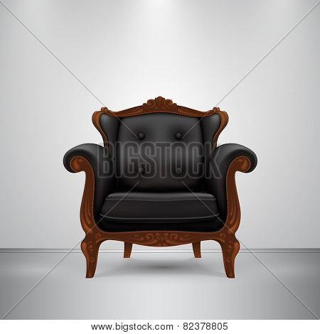 Retro chair black
