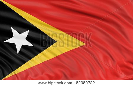 3D East Timor flag