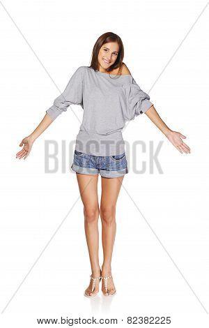 Beautiful slim girl
