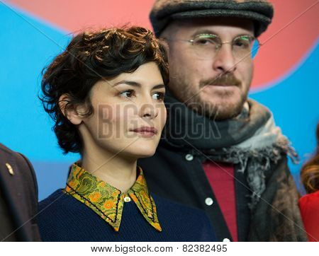 BERLIN- FEBRUARY, 05: Darren Aronofsky, Audrey Tautou. Press Conference at Hyatt Hotel, February, 05, 2015 in Berlin, Germany