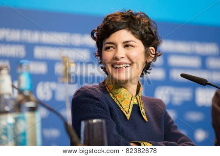 BERLIN- FEBRUARY, 05: Actress Audrey Tautou. International Jury of Berlinale. Press Conference at Hyatt Hotel, February, 05, 2015 in Berlin, Germany