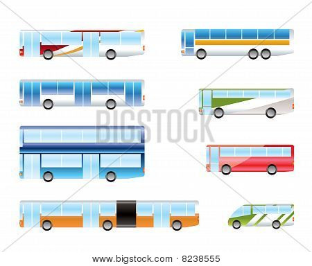 different types of bus icons
