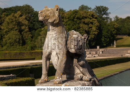 Sculpture In The Garden Of Chateau De Vaux Le Vicomte