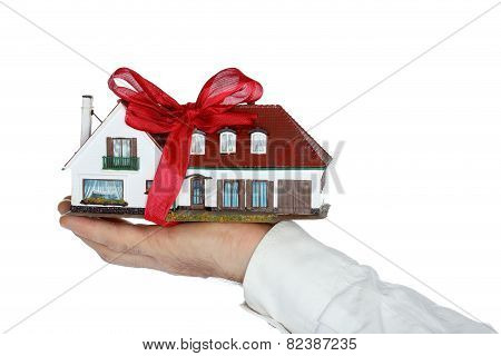 Symbolic House With Bow