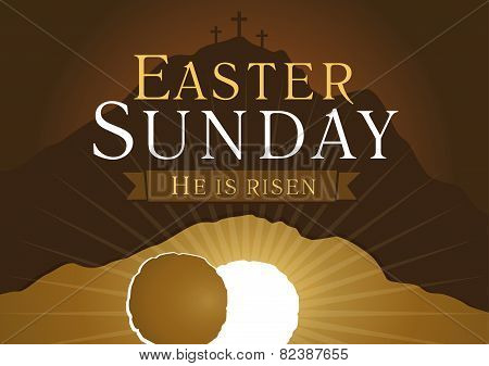 Easter sunday holy week card