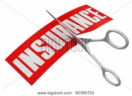 Scissors and Insurance (clipping path included)
