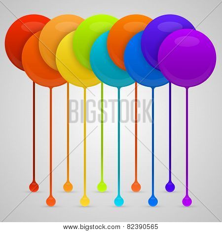Colored paint drips. vector background