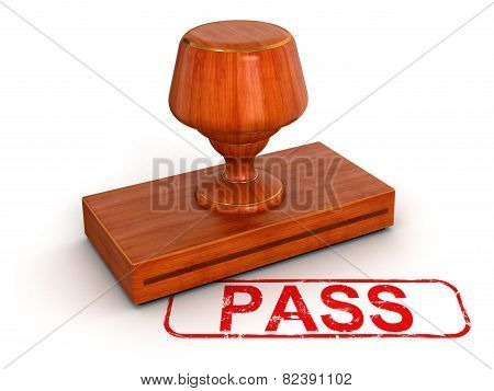 Rubber Stamp pass  (clipping path included)