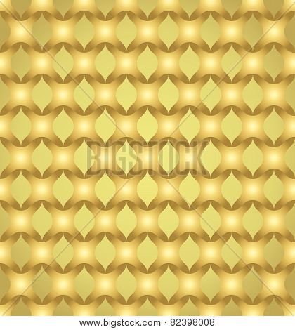 Gold Abstract Cross Pattern On Pastel Color