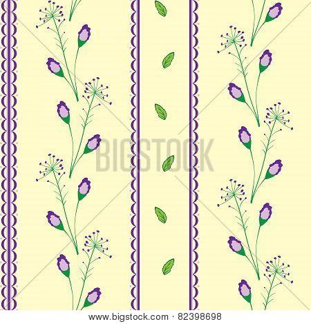 Flower Seamless Green & Yellow