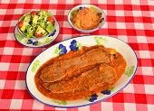 stock photo of medellin  - Typical Colombian meal from the city of Bogota - JPG