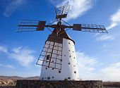 stock photo of municipal  - Traditional older style round windmill  - JPG