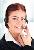pic of helpdesk  - Call center operator in the office - JPG