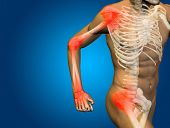 stock photo of osteoporosis  - Conceptual 3D human man anatomy or health design - JPG