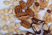 pic of brazil nut  - Assorted Nuts, Macadamia, Walnut,Peanuts and Brazil Nuts. ** Note: Shallow depth of field - JPG