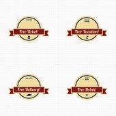 stock photo of free-trade  - various free retro badge set vector art illustration - JPG