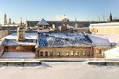 stock photo of roofs  - Moscow old roofs - JPG